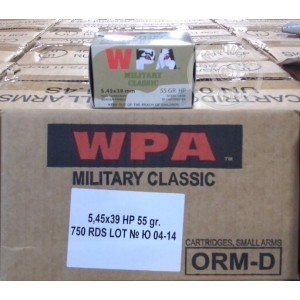 Picture of WOLF 5.45X39 FMJ 55 GRAIN HP (750 ROUNDS)