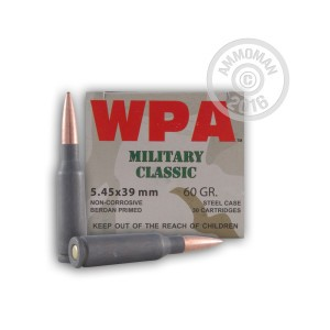 Picture of WOLF 5.45X39 FMJ 60 GRAIN FMJ (750 ROUNDS)
