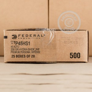 Picture of 45 ACP FEDERAL HYDRA-SHOK 230 GRAIN JHP (20 ROUNDS)