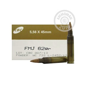 Picture of 5.56 NATO CBC MAGTECH 62 GRAIN FMJ (1000 ROUNDS)