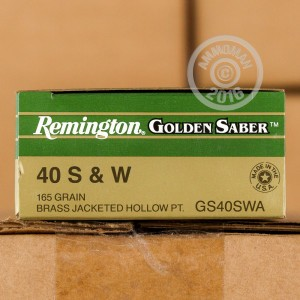 Picture of .40 S&W REMINGTON GOLDEN SABER 165 GRAIN JHP (500 ROUNDS)