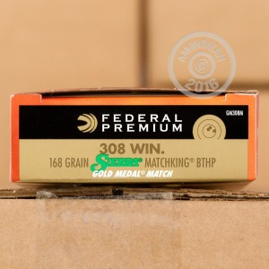 Picture of 308 FEDERAL MATCH 168 GRAIN HP SIERRA MATCHKING (200 ROUNDS)