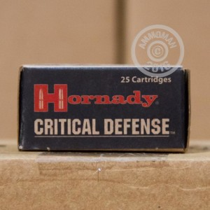 Picture of 9MM LUGER HORNADY CRITICAL DEFENSE 115 GRAIN FTX JHP (25 ROUNDS)