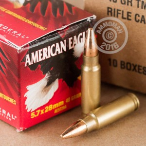 Picture of 5.7X28MM FEDERAL AMERICAN EAGLE 40 GRAIN TMJ (500 ROUNDS)