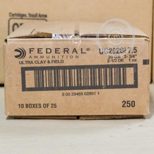 """Picture of 20 GAUGE FEDERAL ULTRA HEAVY FIELD & CLAY 2-3/4"""" #7.5 SHOT (250 ROUNDS)"""