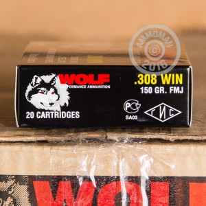 Picture of .308 WOLF 150 GRAIN FULL METAL JACKET (500 ROUNDS)