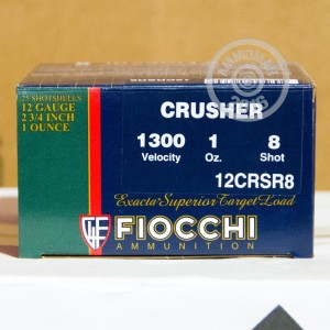 "Picture of 12 GA FIOCCHI CRUSHER 2 3/4"" 1oz. #8 SHOT (250 Rounds)"