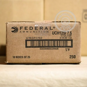"Picture of 12 GAUGE FEDERAL ULTRA CLAY & FIELD 2-3/4"" 1 OZ. #7.5 SHOT (250 ROUNDS)"