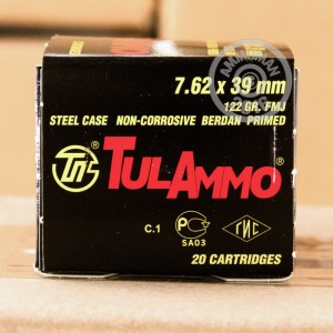 Picture of 7.62x39MM TULA 122 GRAIN FULL METAL JACKET (1000 ROUNDS)