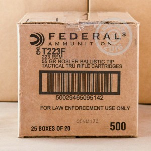 Picture of 223 REMINGTON FEDERAL TACTICAL TRU NOSLER 55 GRAIN PT (500 ROUNDS)