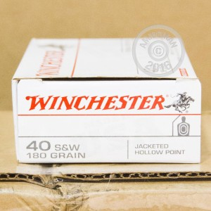 Picture of 40 S&W WINCHESTER 180 GRAIN JHP (500 ROUNDS)
