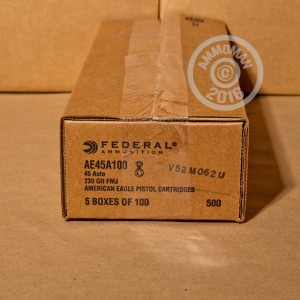 Picture of .45 ACP FEDERAL AMERICAN EAGLE 230 GRAIN FMJ (100 ROUNDS)