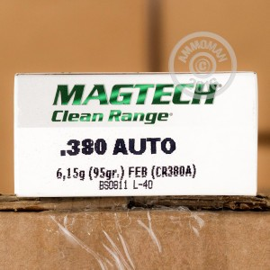 Picture of 380 ACP MAGTECH CLEAN RANGE 95 GRAIN FED (50 ROUNDS)