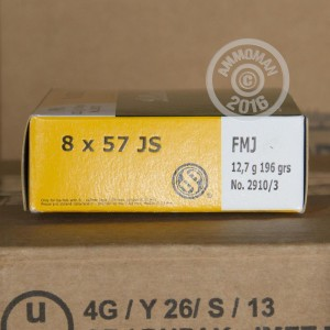 Picture of 8MM MAUSER SELLIER & BELLOT 196 GRAIN FMJ (20 ROUNDS)