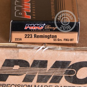 Picture of .223 REMINGTON PMC BRONZE 55 GRAIN FMJ (20 ROUNDS)