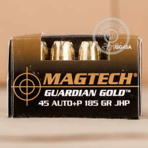 Picture of .45 ACP +P MAGTECH GUARDIAN GOLD 185 GRAIN JHP (20 ROUNDS)