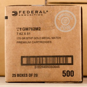 Picture of 7.62 NATO FEDERAL GOLD MEDAL 175 GRAIN HBPT (20 ROUNDS)