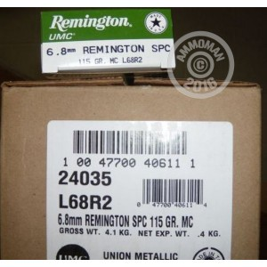 Picture of 6.8MM SPC REMINGTON UMC 115 GRAIN MC (20 ROUNDS)
