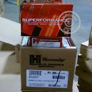Picture of 6.5X55 SWEDISH HORNADY SUPERFORMANCE SST POLYMER TIP 140 GRAIN (20 ROUNDS)