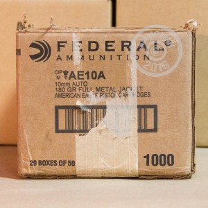 Picture of 10MM AUTO FEDERAL AMERICAN EAGLE 180 GRAIN FMJ (50 ROUNDS)