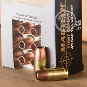 Picture of .45 GAP MAGTECH FIRST DEFENSE 165 GRAIN SCHP (20 ROUNDS)