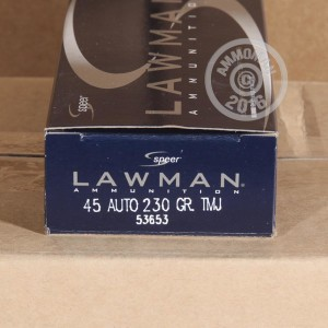 Picture of .45 ACP LAWMAN 230 GRAIN SPEER #53653 (1000 ROUNDS)