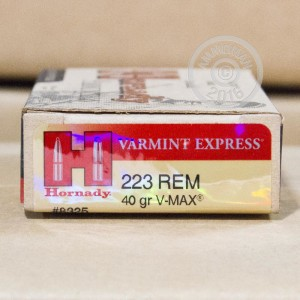 Picture of .223 REMINGTON HORNADY V-MAX 40 GRAIN JHP (200 ROUNDS)