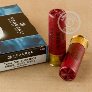 "Picture of 12 GAUGE FEDERAL POWER-SHOK 3"" 00 BUCK (5 SHELLS)"