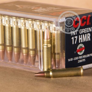 Picture of 17 HMR CCI 16 GRAIN LEAD FREE TNT GREEN HP (50 ROUNDS)