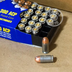 Picture of 380 ACP BARNAUL SILVER BEAR 94 GRAIN FMJ (50 ROUNDS)