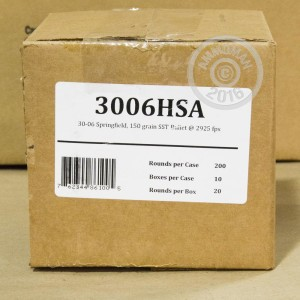 Picture of .30-06 SPRINGFIELD FIOCCHI EXTREMA HUNTING 150 GRAIN SST (20 ROUNDS)