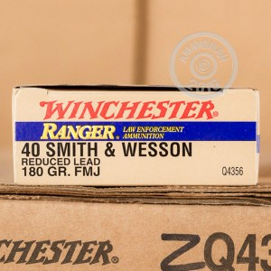 Picture of 40 S&W WINCHESTER RANGER 180 GRAIN FMJ REDUCED LEAD (50 ROUNDS)