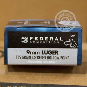 Picture of 9MM FEDERAL PERSONAL DEFENSE 115 GRAIN JACKETED HOLLOW POINT (20 ROUNDS)