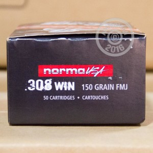 Picture of 308 WIN NORMA TAC-308 150 GRAIN FMJ (50 ROUNDS)