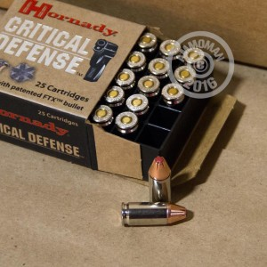 Picture of 9MM LUGER HORNADY CRITICAL DEFENSE 115 GRAIN FTX JHP (250 ROUNDS)
