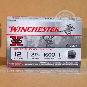 "Picture of 12 GAUGE WINCHESTER SUPER-X 2 3/4"" 1 OZ. RIFLED SLUG (150 ROUNDS)"