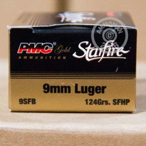 Picture of 9MM LUGER PMC STARFIRE 124 GRAIN JHP (20 ROUNDS)