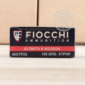 Picture of 40 S&WFIOCCHIXTP 155 GRAINJACKETED HOLLOW POINT(25ROUNDS)