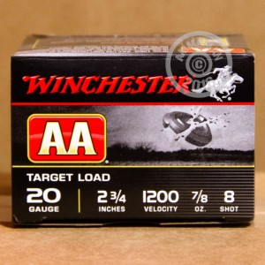 "Picture of 20 GAUGE WINCHESTER AA TARGET 2-3/4"" #8 SHOT (250 ROUNDS)"