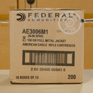 Picture of .30-06 SPRINGFIELD FEDERAL M1 GARAND 150 GRAIN FMJ (20 ROUNDS)