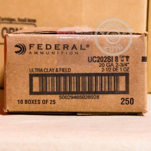 "Picture of 20 GAUGE 2-3/4"" FEDERAL ULTRA HEAVY FIELD & CLAY #8 SHOT (250 ROUNDS)"
