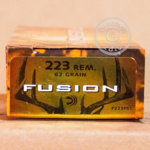 Picture of .223 REMINGTON FEDERAL FUSION 62 GRAIN JHP (20 ROUNDS)