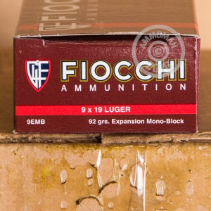 Picture of 9MM LUGER FIOCCHI EXTREMA 92 GRAIN EMB (50 ROUNDS)