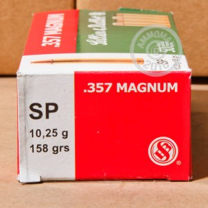 Picture of 357 MAGNUM SELLIER & BELLOT 158 GRAIN SP (50 ROUNDS)