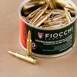 1000 Rounds of Bulk 9mm Ammo by Fiocchi - 124gr FMJTC