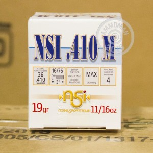 """Picture of 410 BORE NOBELSPORT 3"""" #4 SHOT (25 ROUNDS)"""