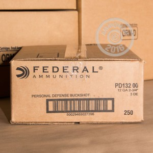 """Picture of 12 GAUGE FEDERAL WITH FLITECONTROL WAD 2 3/4"""" 00 BUCK 9 PELLETS (5 ROUNDS)"""