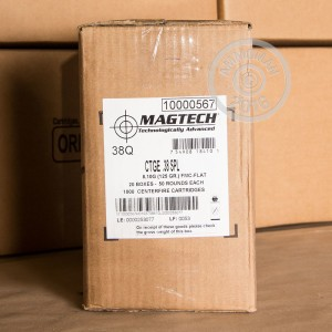 Picture of 38 SPECIAL MAGTECH 125 GRAIN FMC FLAT (1000 ROUNDS)