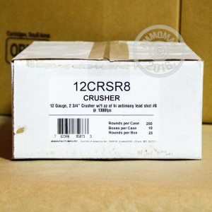 "Picture of 12 GAUGE FIOCCHI CRUSHER 2 3/4"" 1 OZ. #8 SHOT (25 ROUNDS)"