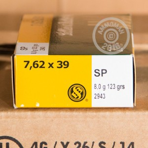 Picture of 7.62X39 SELLIER & BELLOT 123 GRAIN SP (20 ROUNDS)